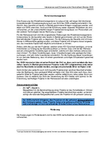 Anpassung Wartelistenmanagement EnV (BFE, 07/2014)