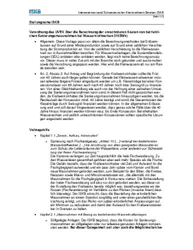 Sanierung Wasserkraft (BAFU, 08/2015)