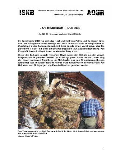 Jahresbericht 2003