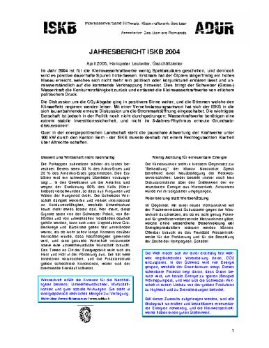 Jahresbericht 2004