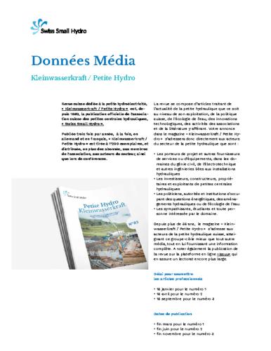 Donnees Media Petite Hydro SSH