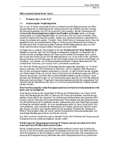 160809 SSH Stellungnahme EnV 08-16
