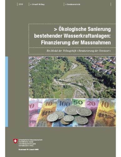Ökologische Sanierung bestehender Wasserkraftanlagen: Finanzierung der Massnahmen