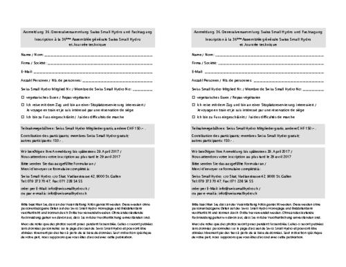 Anmeldeformular / Inscription