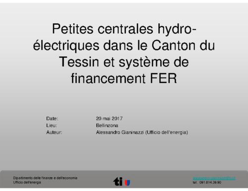 02 PCH dans le Canton TI et système de financement FER