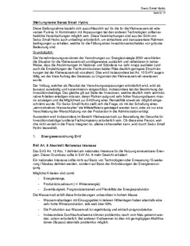 Stellungnahme Verordnungsebene ES 2050
