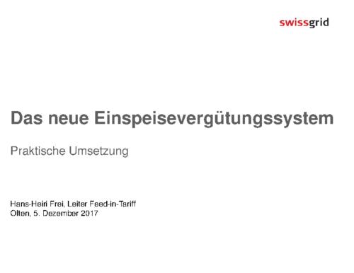 03 Swissgrid Einspeisevergütungssystem