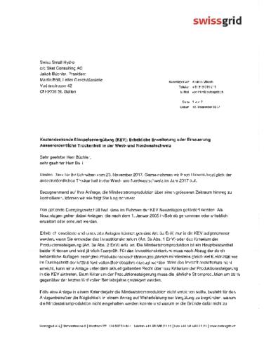171212 Antwort Swissgrid