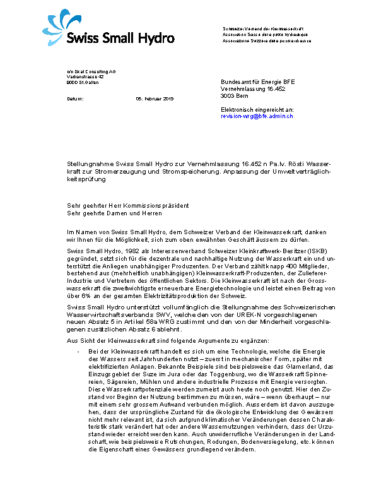 190215 Stellungnahme Vernehmlassung WRG Web