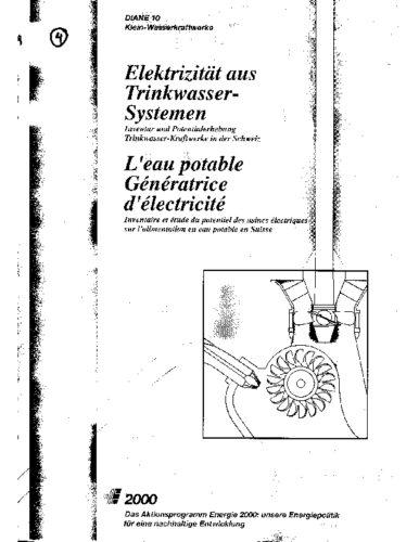 4df Elektrizität aus Trinkwassersystemen