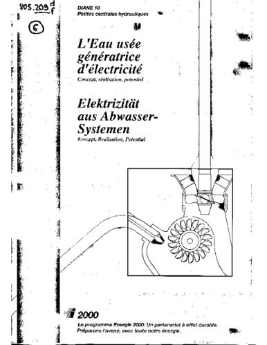 6df Elektrizität aus Abwassersystemen