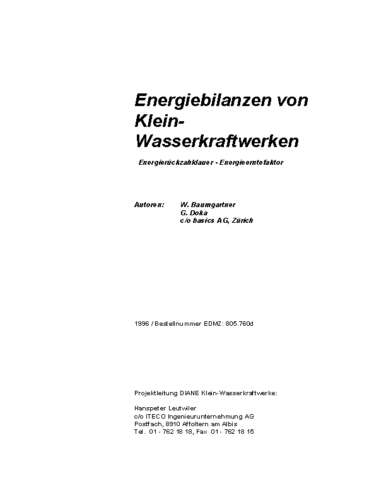 A Energiebilanzen von KWK