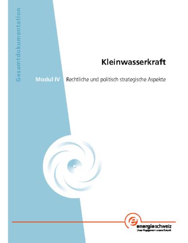 Gesamtdokumentation Kleinwasserkraft – Modul IV-1