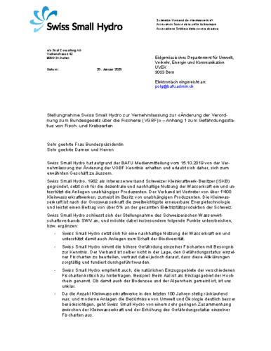 200129 Stellungnahme Vernehmlassung VBGF WEB