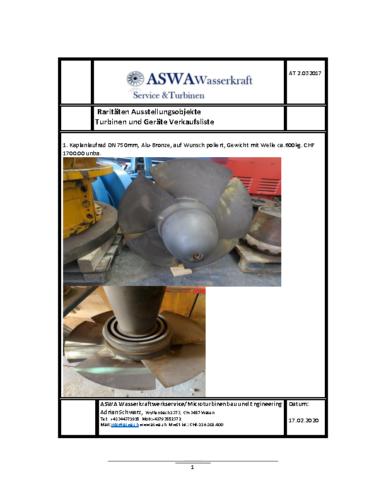 ASWA Verkaufsliste 2020