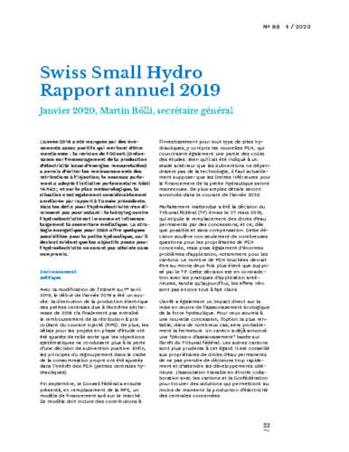 Rapport Annuel Swiss Small Hydro 2019 FR