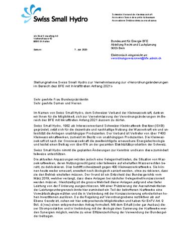 200809 Stellungnahme Vernehmlassung EnV WEB v200707
